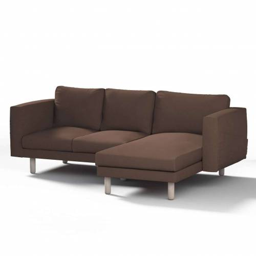 Dekoria Norsborg Bezug für 3-Sitzer Sofa mit Recamiere, braun, Norsborg Bezug für 3-Sitzer Sofa mit Recamiere, Etna (705-08)