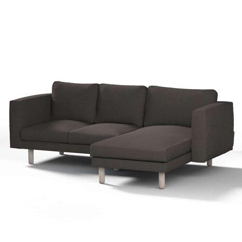 Dekoria Norsborg Bezug für 3-Sitzer Sofa mit Recamiere, braun, Norsborg Bezug für 3-Sitzer Sofa mit Recamiere, Etna (702-36)