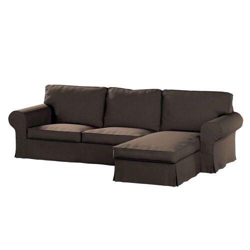 Dekoria Ektorp 2-Sitzer Sofabezug mit Recamiere, braun, Ektorp 2-Sitzer Sofabezug mit Recamiere, Etna (705-08)