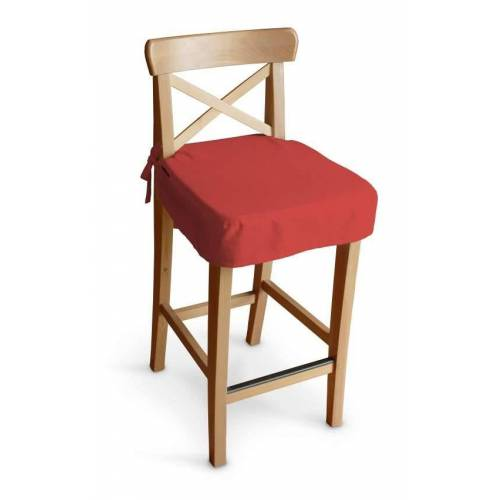 Dekoria Sitzkissen für Barhocker Ingolf, rot, Barstuhl  Ingolf, Loneta (133-43)