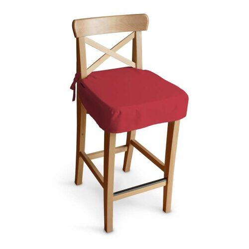 Dekoria Sitzkissen für Barhocker Ingolf, rot, Barstuhl  Ingolf, Quadro (136-19)