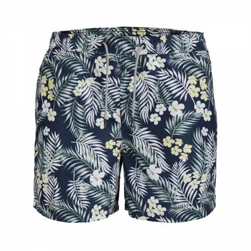 Jack & Jones Badeshorts navy Floralprint