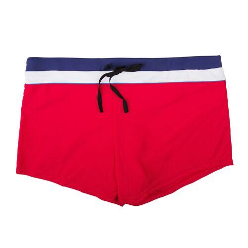 elemar XXL Badehose Herren Elemar rot mit blau-weißem Bund