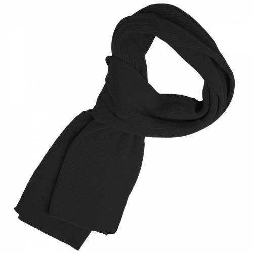 Balke schwarzer Schal mit Merinowolle und Kaschmir