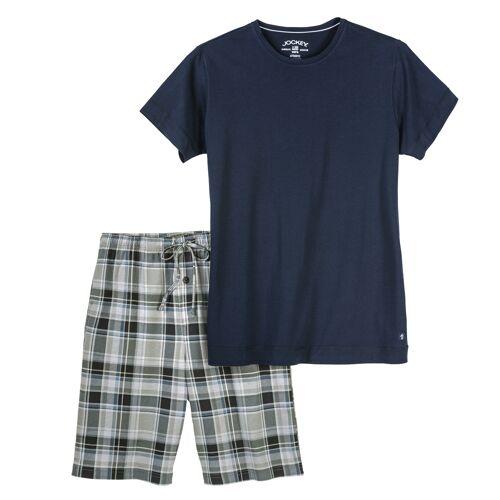 Jockey kurzer Pyjama XXL navy/kariert