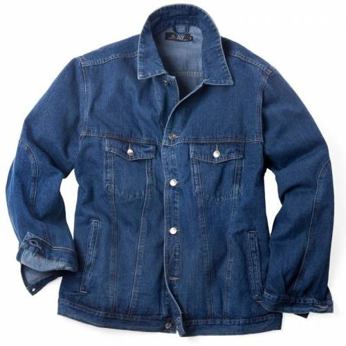 Allsize Jeansjacke Allsize blau Übergröße