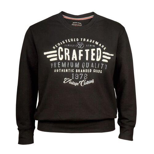 Redfield XXL Redfield Sweatshirt schwarz Print