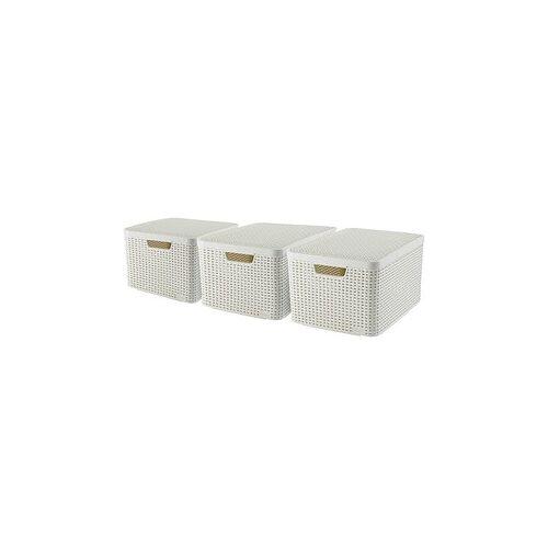 curver STYLE L Aufbewahrungsboxen beige 44,5 x 33,0 x 24,8 cm