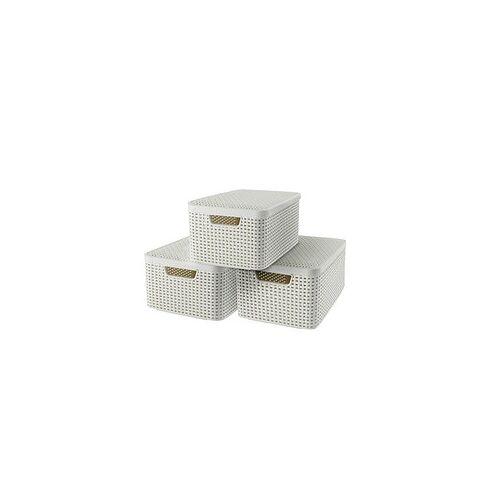 curver STYLE M Aufbewahrungsboxen beige 39,7 x 29,0 x 18,7 cm