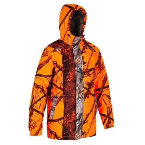 SOLOGNAC Jagdjacke / Regenjacke 100 warm camouflage/neon ORANGE