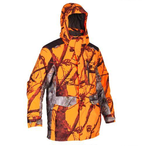 SOLOGNAC Jagdjacke / Regenjacke 500 warm camouflage/neon