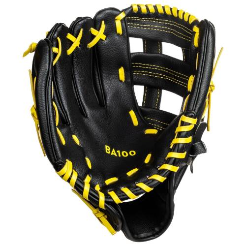 "KIPSTA Baseball-Handschuh BA100 9.5-10.5"" BA150 Linke Hand Werfer GELB/SCHWARZ"