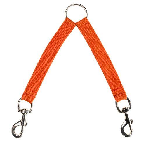 NO BRAND Koppel für Hundeleine, 2 Hunde, orange