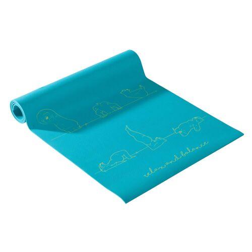 DOMYOS Yogamatte Kinder 5mm Bär blau