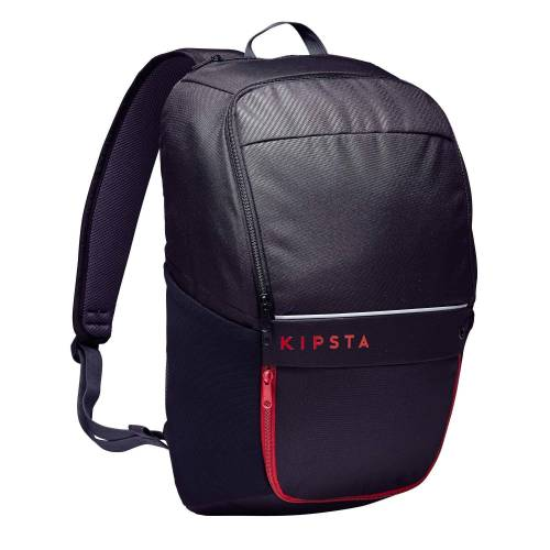 KIPSTA Rucksack Essential 25 Liter schwarz/rot