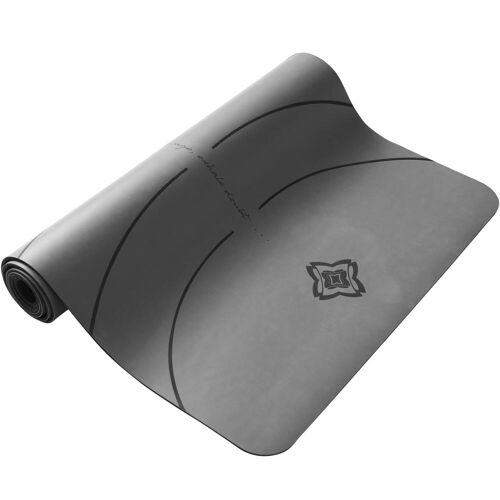 DOMYOS Yogamatte für dynamisches Yoga Grip + 5mm grau