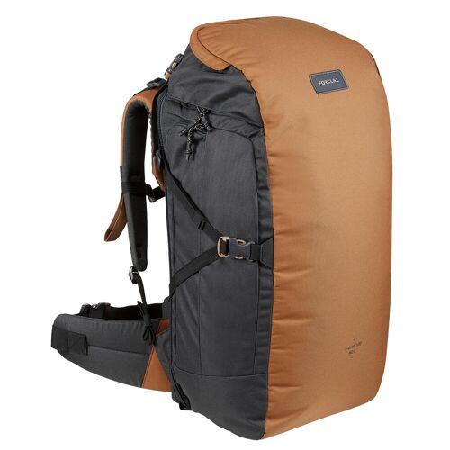 FORCLAZ Backpacking-Rucksack Travel 100 60 Liter camel