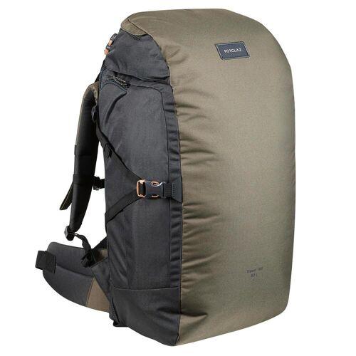 FORCLAZ Backpacking-Rucksack Travel 100 60Liter khaki
