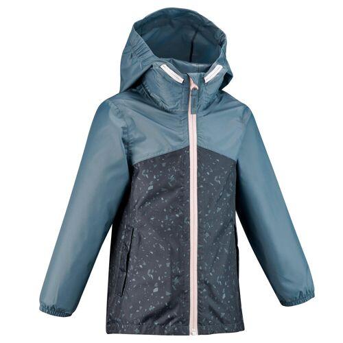 QUECHUA Regenjacke Wandern MH150 Kinder blau/grau