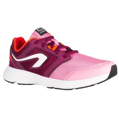 KALENJI Laufschuhe Leichtathletik Run Support mit Schnürung Kinder rosa/bordeaux