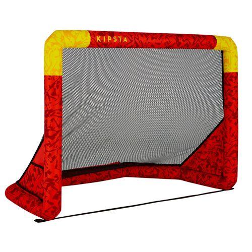 KIPSTA Fussballtor Air Kage aufblasbar rot/gelb