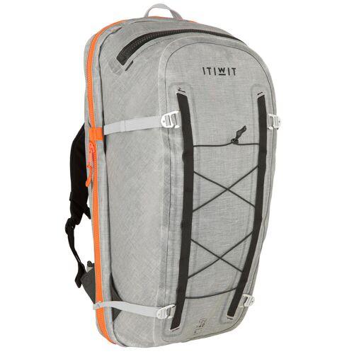 ITIWIT Wasserfester Rucksack IPX7 wandelbar 120–40L Stand Up Paddle grau