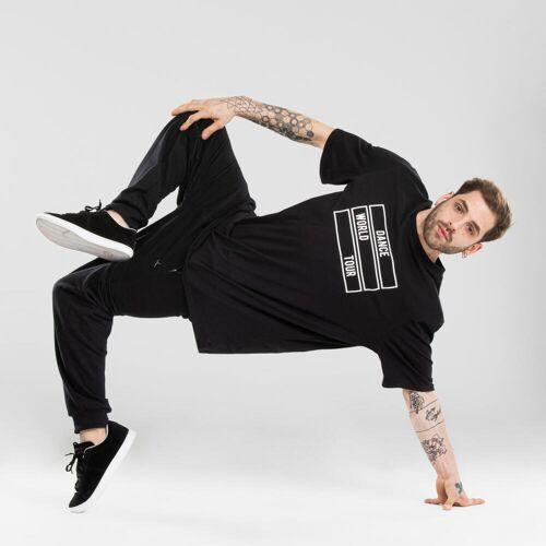 Domyos Tanz-Shirt Urban Dance Motiv Herren schwarz SCHWARZ