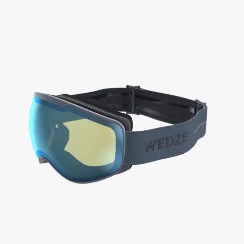 WEDZE Skibrille Snowboardbrille G 900 S1 Schlechtwetter Erwachsene/Kinder blau