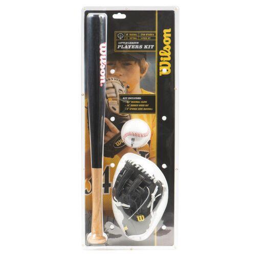 Wilson Baseball-Set für Kinder mit Handschuh, Ball und Schläger (24 Zoll) SCHWARZ