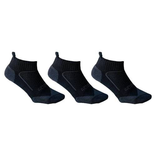 ARTENGO Tennissocken RS 900 Low 3er-Pack schwarz/grau
