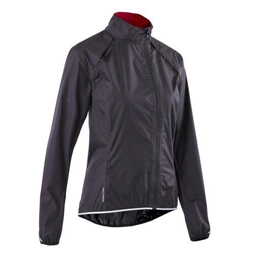TRIBAN Fahrrad Regenjacke Rennrad RC 500 Damen schwarz