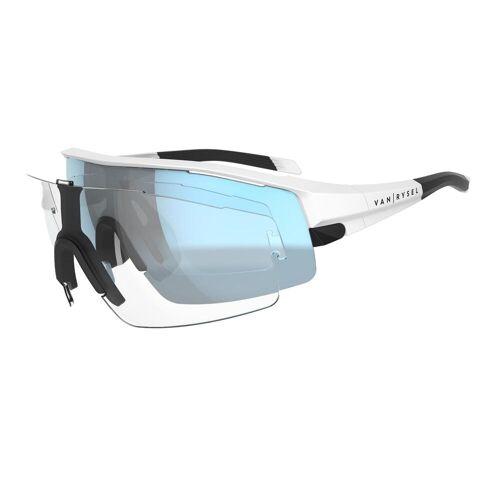 VAN RYSEL Fahrradbrille Rennrad RR 900 weiß WEIß