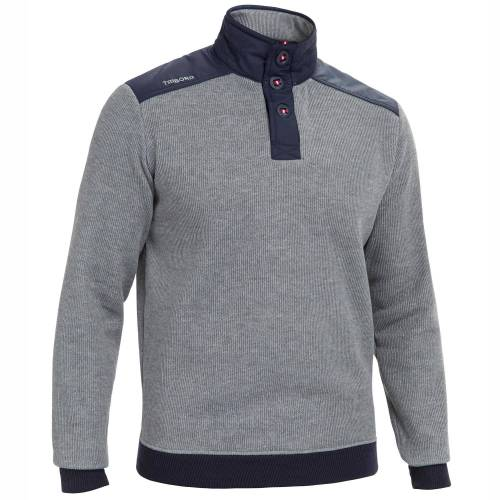 TRIBORD Segel-Pullover Sailing 100 Herren grau BLAU/GRAU