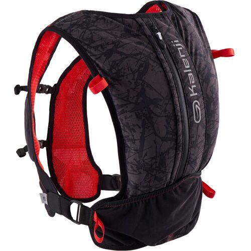 KALENJI Trailrucksack Trinkrucksack Running 10Liter schwarz/rot