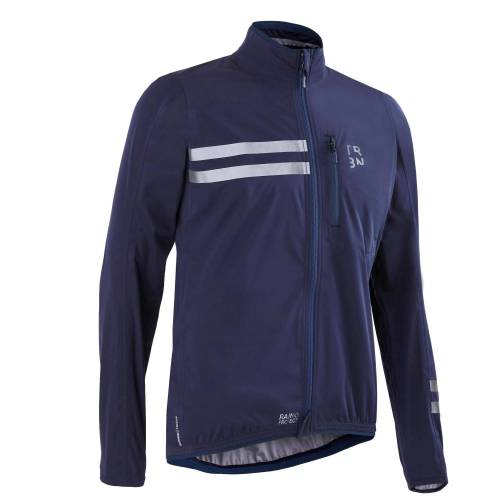 TRIBAN Fahrrad Regenjacke Rennrad RC 500 Herren marineblau BLAU