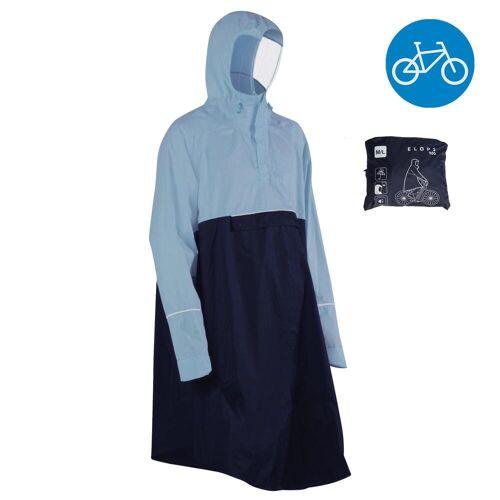B'twin Fahrrad-Regenponcho City 900 blau/marine