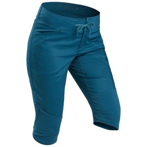 QUECHUA Wanderhose Dreiviertel-Hose Naturwandern NH500 Damen blau