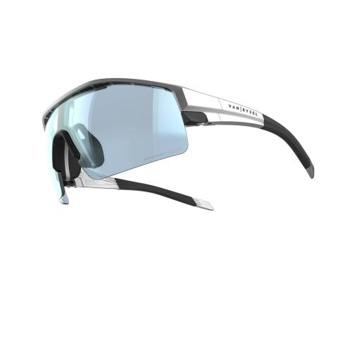 VAN RYSEL Fahrradbrille Rennrad RR 900 photochrom grau
