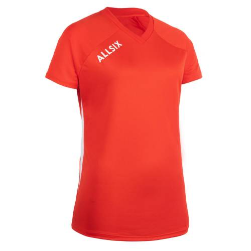 ALLSIX Volleyballtrikot V100 Damen rot