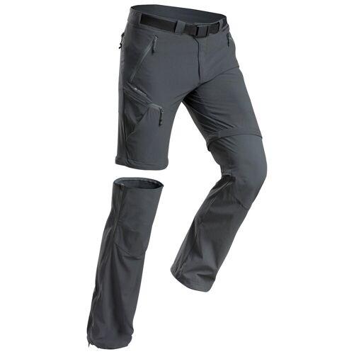 QUECHUA Zip-Off-Hose Wanderhose Bergwandern MH550 Herren grau