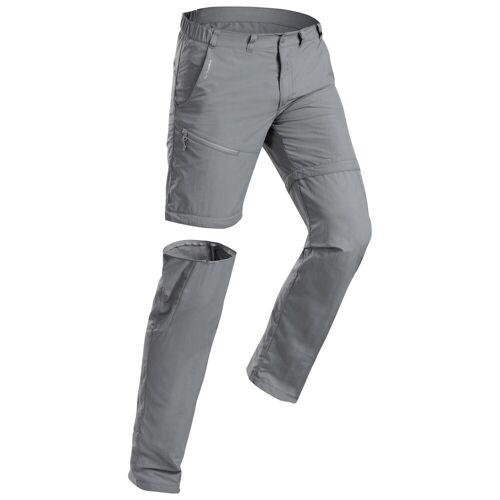 QUECHUA Wanderhose Zip-Off-Hose Bergwandern MH150 Herren grau