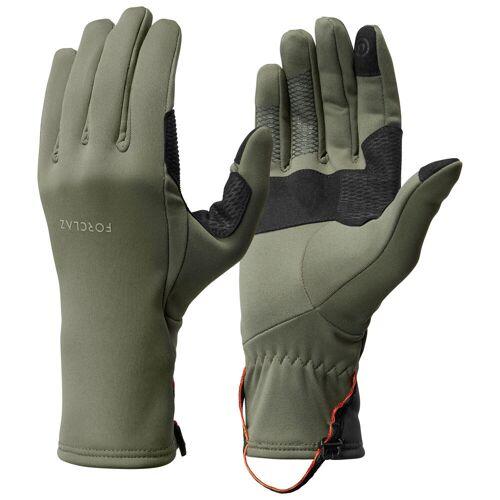 FORCLAZ Handschuhe Bergtrekking Trek 500 atmungsaktiv Erwachsene khaki