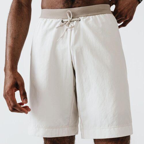 Kalenji Laufshorts 2-in-1 mit integrierten Boxershorts Dry+ Herren beige BEIGE