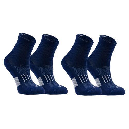 Kalenji Sportsocken AT 500 Mid 2 Paar Kinder marineblau