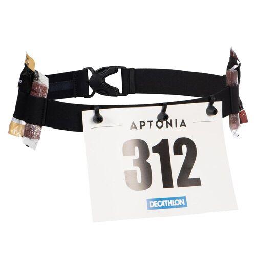 Aptonia Haltegurt für Startnummer Kurzstrecken-Triathlon Größe S bis XXXL SCHWARZ