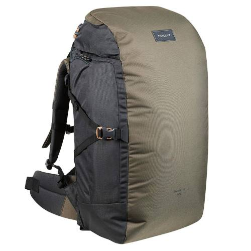 FORCLAZ Backpacking-Rucksack Travel 100 60 Liter khaki