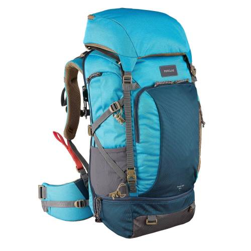 FORCLAZ Backpacking-Rucksack Travel 500 50 L Damen blau
