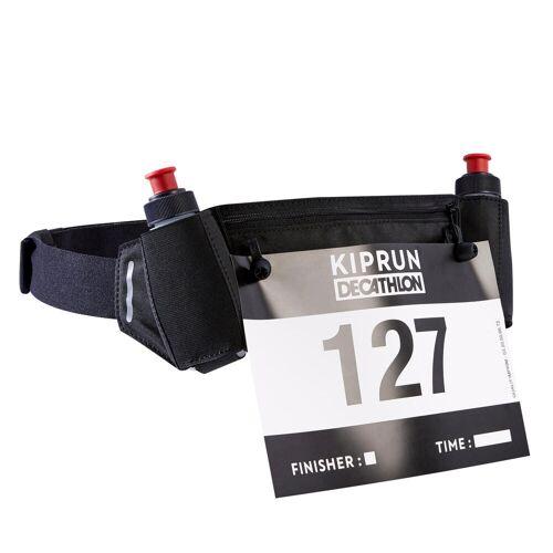 Kiprun Trinkgürtel Laufsport mit Flaschen 115ml + Startnummernhalter