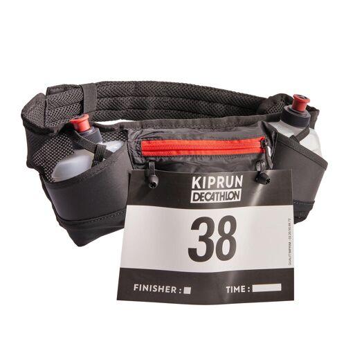 Kiprun Trinkgürtel Laufsport mit Flaschen 250ml + Startnummernhalter