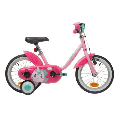 BTWIN Kinderfahrrad 14 Zoll 500 Unicorn rosa/pink GRÜN/ROSA